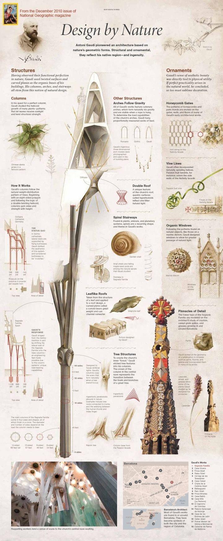Antoni Gaudí   Info-graphic - Design by nature   Basílica i Temple Expiatori de la Sagrada Família: