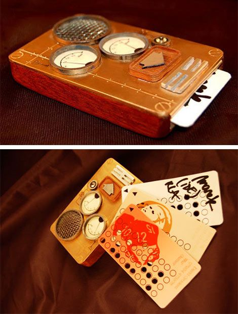This steampunk cell phone concept has no display. No 3G. No data plan. No games. It doesn't even have a dial pad. You make your calls with binary-coded punch cards