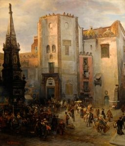 Italian Marketplace - Oswald Achenbach
