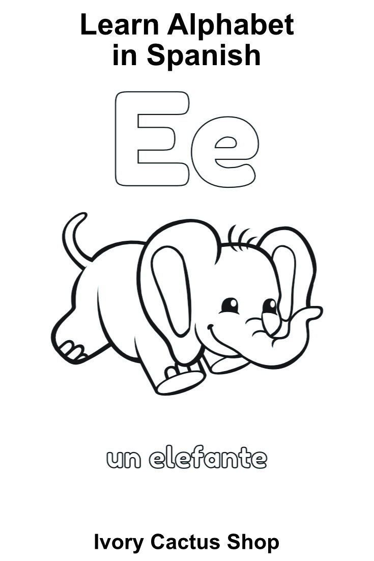 Abc In Spanish Tracing Coloring Pages Abc Printables Abc Tracing Alphabet Flashcards