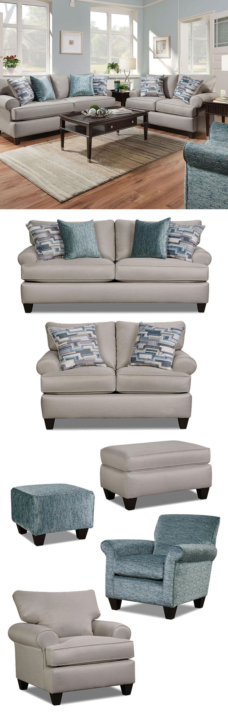 The Hogan Nickel Sofa By Corinthian At Great American Home Store In The  Memphis, TN ...