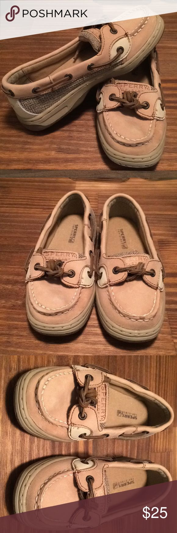 Girls Size 1 Sperry Angelfish Shoes Never worn! Girls size 1 Tan/khaki Sperry Angelfish Slip on Shoes. Sperry Shoes Dress Shoes