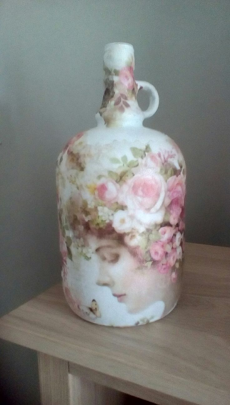 Rose lady decoupage by Wendy