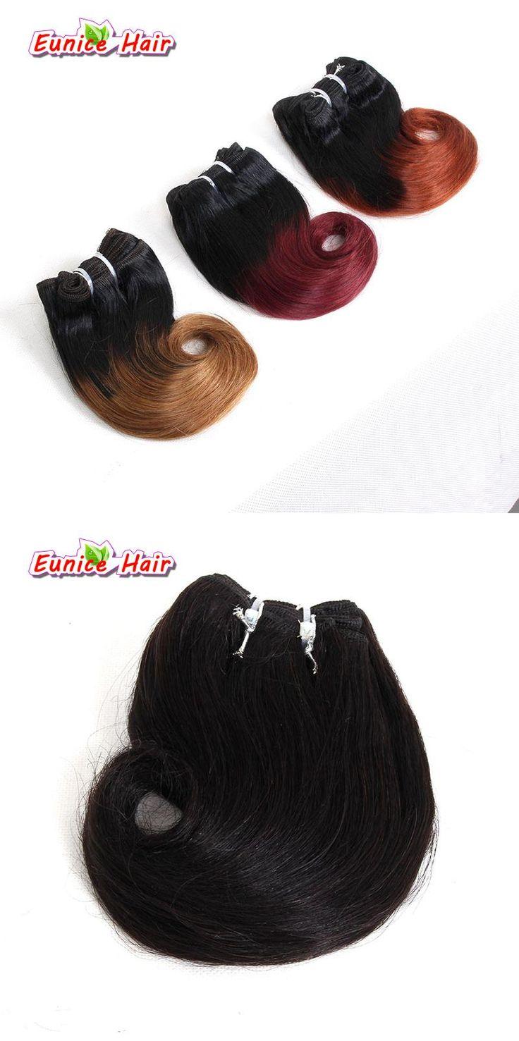 Natural black #1B #4 Ombre Brazilian Weave Hair Burgundy 8'' Short Body Wave 4 Bundles Short Hair Weave Brazilian Hair Extension