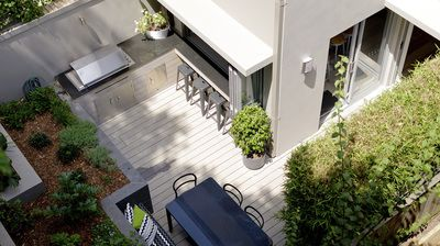 Balmain East House| Rear Courtyard| Servery Window| BBQ