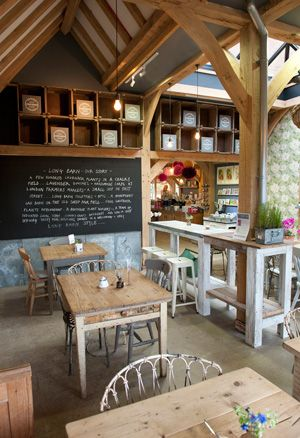 Cafe at Long Barn Lavender Farm Nr Winchester