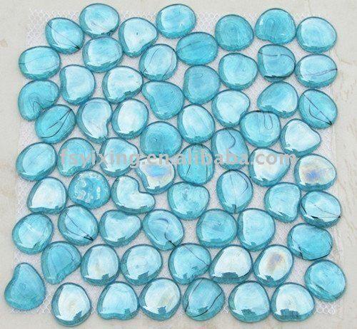 Decorative Blue Pebble Glass Mosaic For River Rock Glass Tile Swimming Pool Bathroom Spa Decoration - Buy Mosaic,Glass Mosaic For Swimming Pool Tile,Circular Glass Mosaic Product on Alibaba.com
