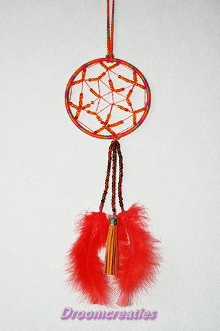 Mandala dreamcatcher no. 4 with beads by Droomcreaties on Etsy, €22.95