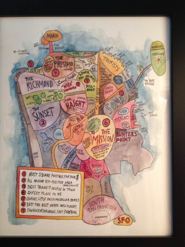 Sketch Map of SFO SanFrancisco from MoMA