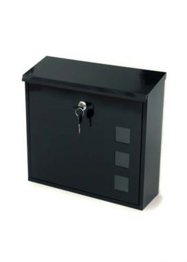 Aire Black Steel Post Box
