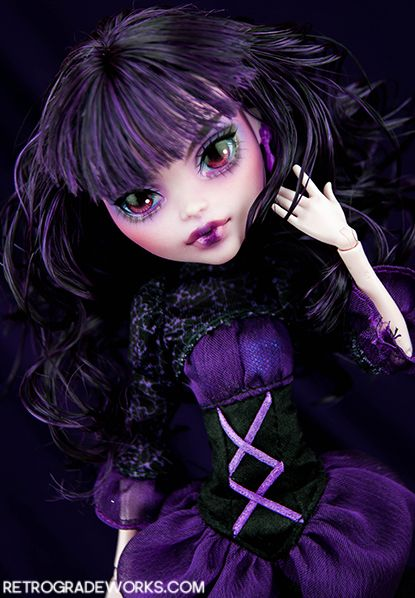 http://www.etsy.com/listing/177792439/custom-monster-high-elissabat-doll?ref=shop_home_active_1 Elissabat by Retrograde Works