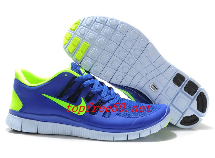 1Bt2cd Hyper Blue Black Blue Tint Volt Nike Free 5.0 Women's Running Shoes