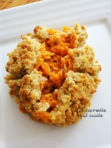 Crumble de potiron au Comté   La carotte est cuite
