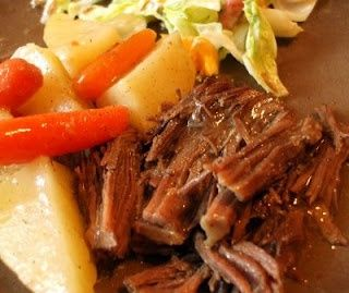 Chuck Roast Meal, made this tonight. I had a 2.5 lb roast and it took 3.5 hours total. The potatoes were great.