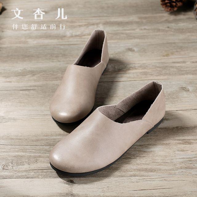 Новый экспорт обувь глубоко осень абрикос Японский ленивый обувь ретро Сен осень ручной обувь оптом