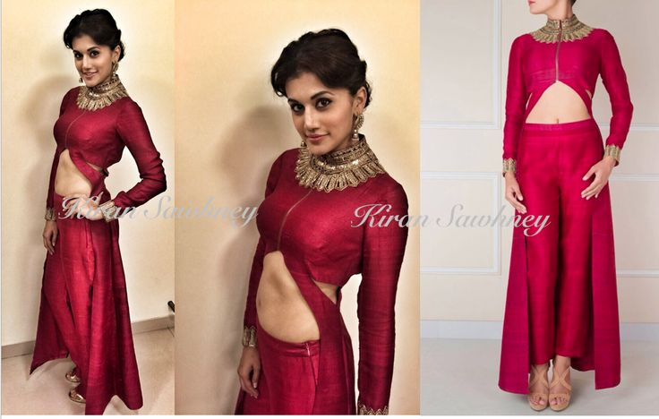 Taapsee Pannu in Designer Reeti Arneja at a wedding in Mumbai