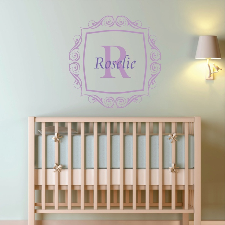Best Monogram Wall Decals Images On Pinterest Monogram Wall - Monogram wall decals for nursery