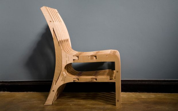 Picture of CNC Scissor Chair (Plywood)