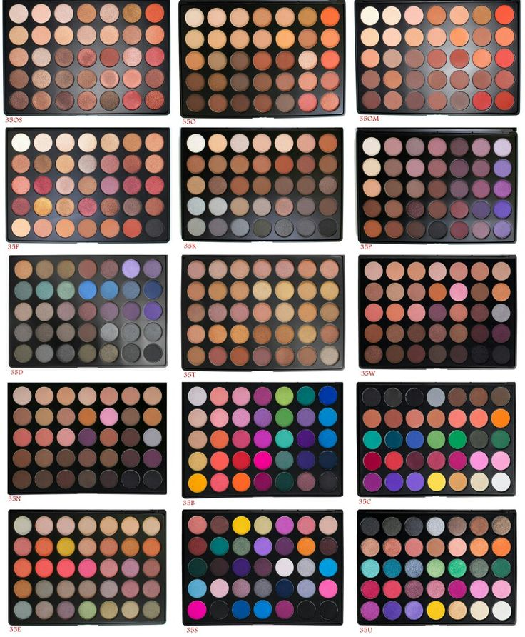 Finally! I made this picture that includes all morphe's 35 palette.  Now comparing them will be alot easier.  P.S. these pictures of the palettes are token from their website.
