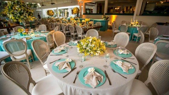 Morena Flor Glamour: Casamento: Decoração com Azul Tiffany, Branco e Amarelo Ouro