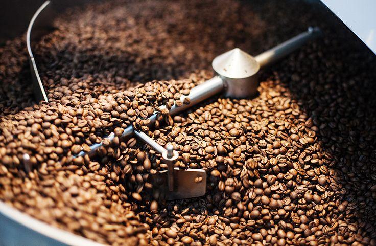 Grãos de café brasileiro