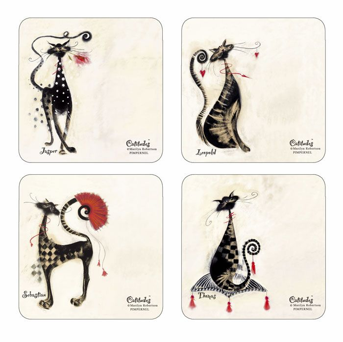 Cat Placemats Marilyn Robertson Catitudes By Pimpernel