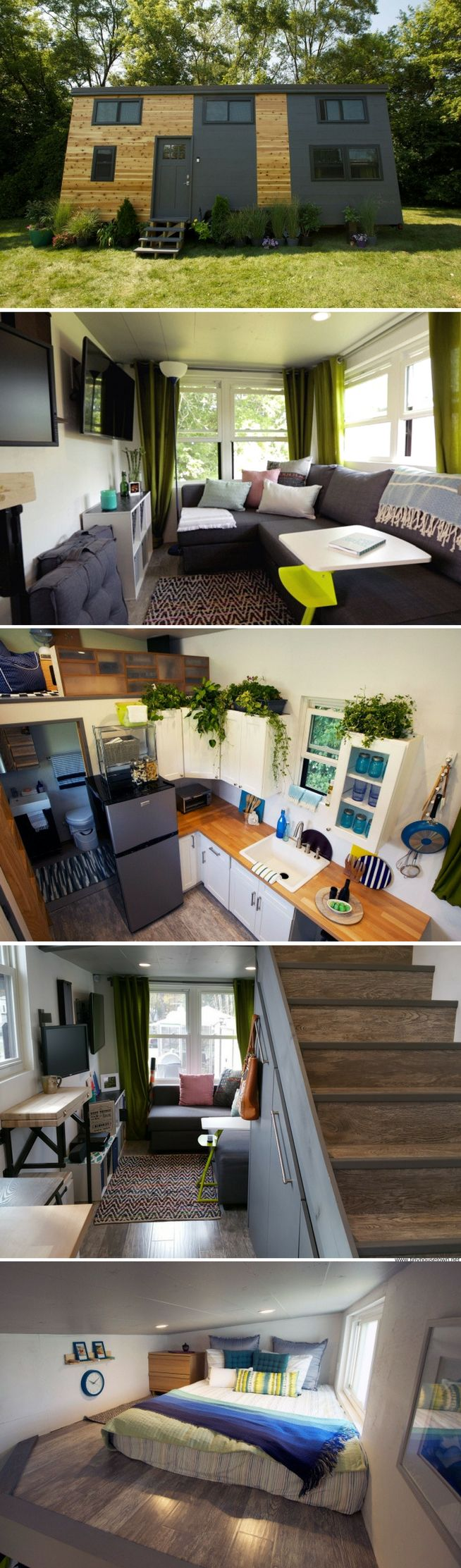 The Smart House: a 303 sq ft tiny home that was featured on Tiny House Nation