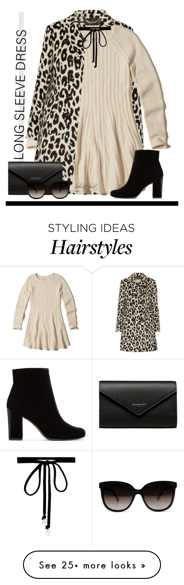 """""""Winter Trend: Long Sleeve Dress"""" by boho-at-heart on Polyvore featuring Burberry, Hollister Co., Balenciaga, Yves Saint Laurent and Joomi Lim"""