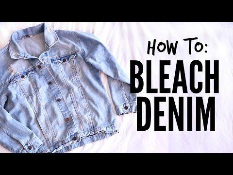 How To Bleach Denim YouTube