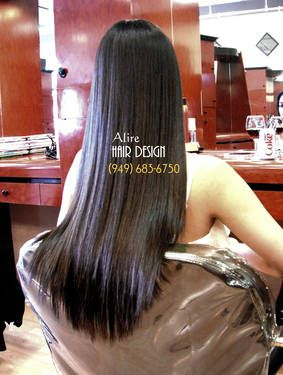 Best Keratin Hair Treatment & Japanese permanent Hair straightening by Alire Hair Design in Orange County hair salons in Irvine