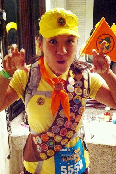 Brighter Photo! // Russell from Up // runDisney // Disneyland Half Marathon 2011 // Running Costume