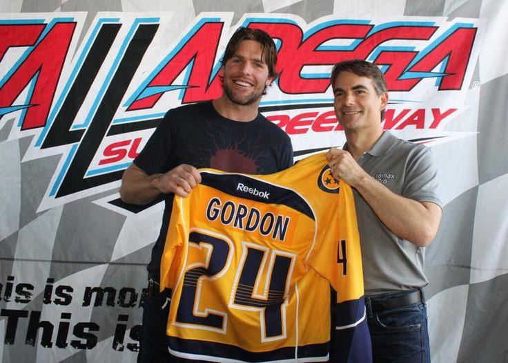 Nashville Predators on Jeff gordon, Jeff gordon nascar