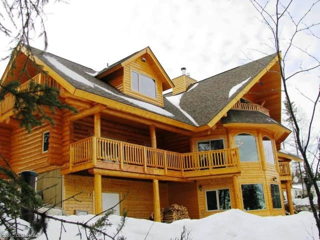 1000 images about alaska log homes cabins on pinterest for Luxury homes in alaska