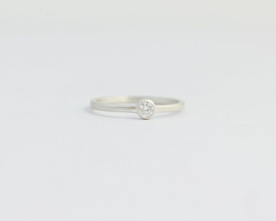 Solitaire Diamond Engagement Ring Conflict Free by ashhilton