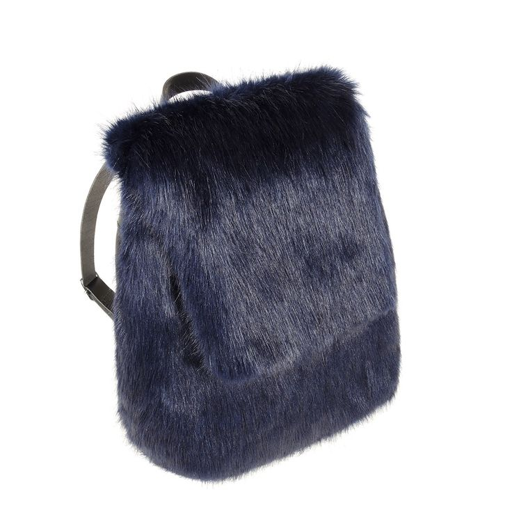 Midnight Faux Fur Backpack