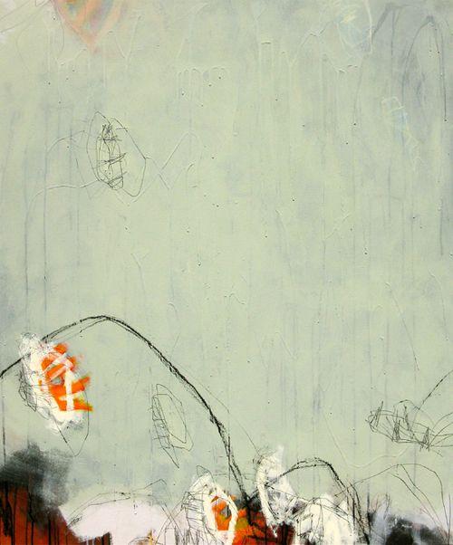 "Jason Craighead            Fandango (Cliff Jumpers), mixed media on canvas, 42"" x 52"""