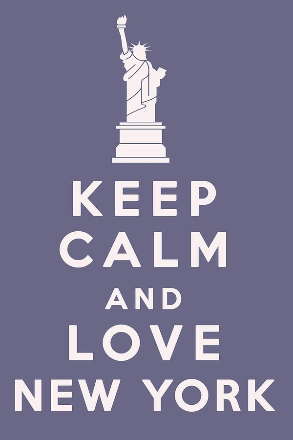 "I usually find these ""Keep Calm"" posters annoying, but I just can't help it...I love NY!"