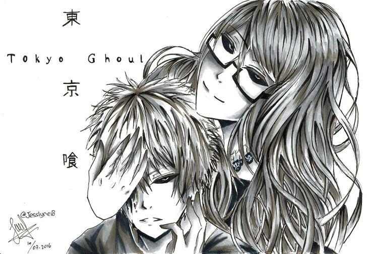 Tokyo ghoul fan art #art #anime #artwork #animeartwork #animeart #tokyoghoul #kanekiken #kaneki #rize