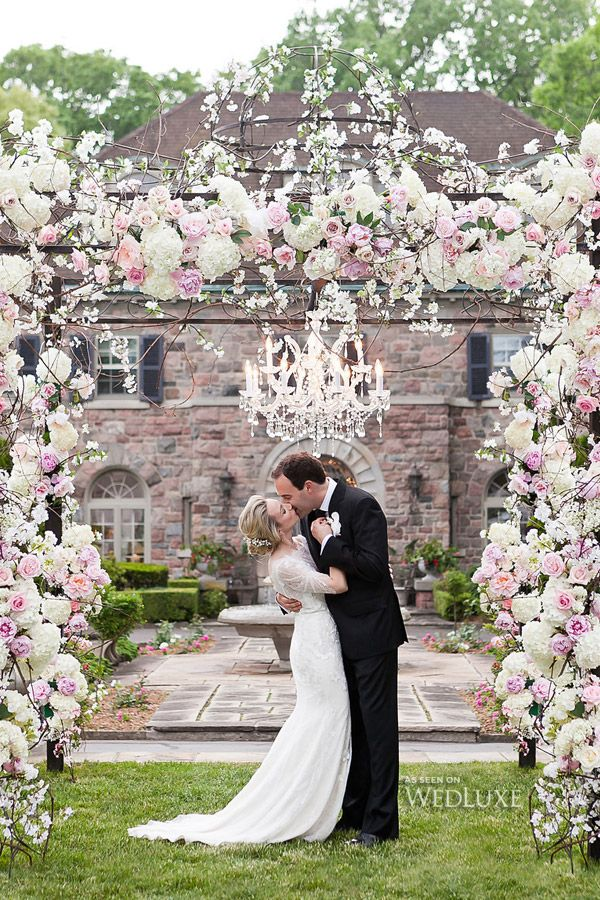 510 best jewish weddings jevel wedding planning images on nicole daniel the exquisite custom chuppah covered in pink and cream flowers is junglespirit Choice Image