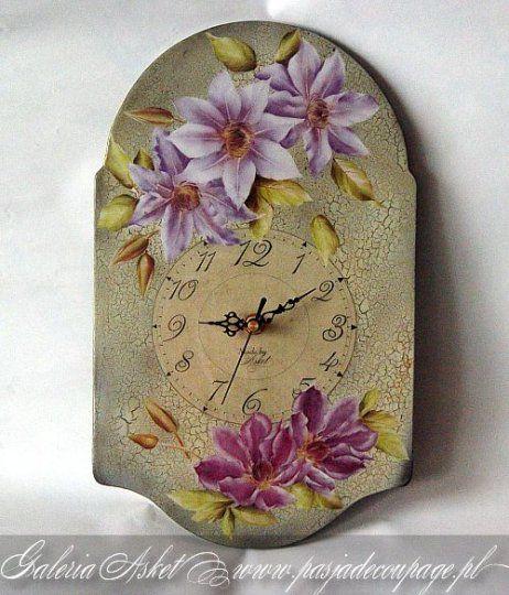 reloj con flores