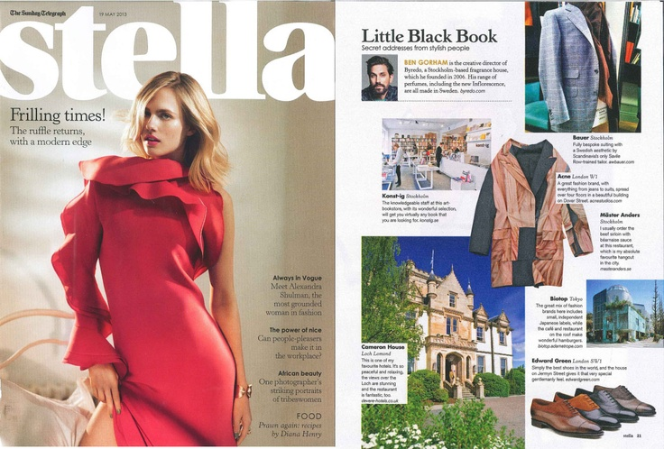 Byredo Creative Director; Ben Gorham highlights his favourite destinations in the 'Little Black Book' as featured in Stella.
