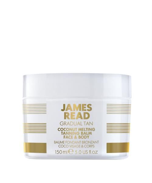 The first of its kind, James' new transforming tanning balm melts upon contact with the skin to create a natural golden tan. WHY CHOOSE ME? * A deeply nourishing tanning balm. Formulated with organic coconut oil and a touch of self tan for a subtle result * The ultimate skincare treat, this unique formulation melts into the skin upon application resulting in super hydrated, silky soft skin * Featuring Tantone Technology™ which helps ensure the most natural result for your skin tone...