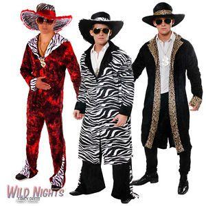 60s 70s BIG DADDY PIMP RAPPER GANGSTER FANCY DRESS COSTUME MENS WITH HAT | eBay