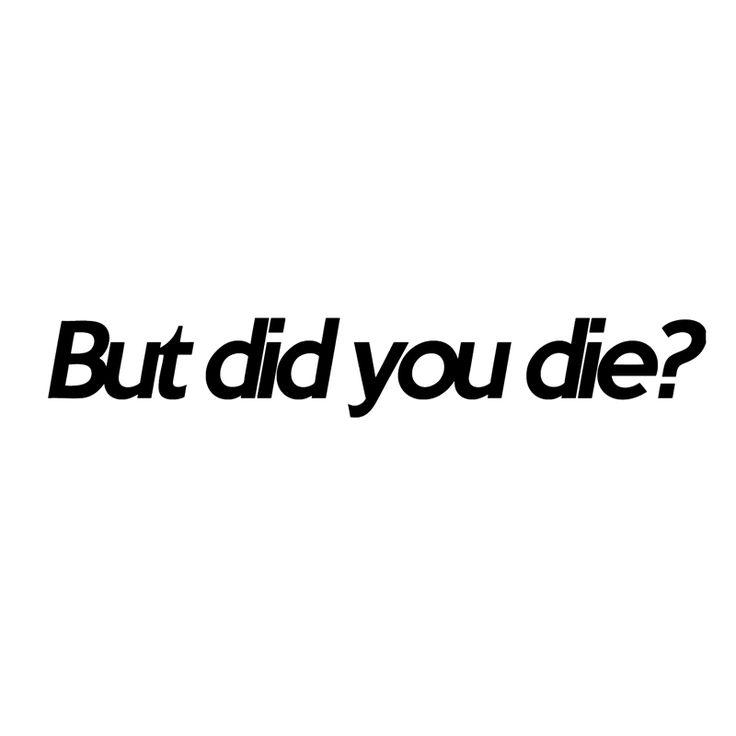 HotMeiNi But did you die? funny car window decal Car Sticker Truck Bumper Boat Laptop Vinyl Decal