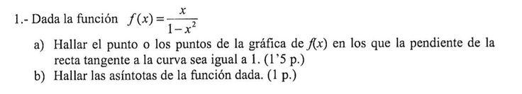 Ejercicio 1B 2009-2010 Junio Fase Específica. Propuesto en examen pau de Canarias. Matemática. Continuidad, derivabilidad y representación de funciones. Límites.
