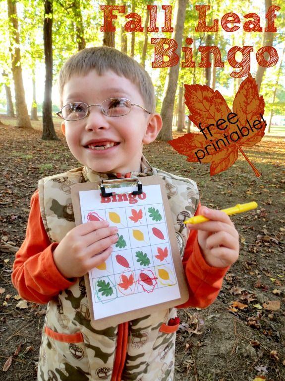Free printable Fall leaf Bingo. {Melissa and Doug}