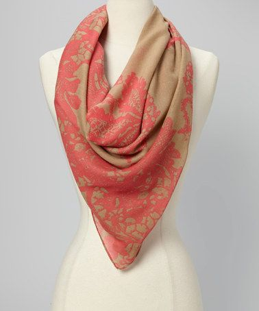 Take a look at this Neon Coral Scarf by Vince Camuto on #zulily today!