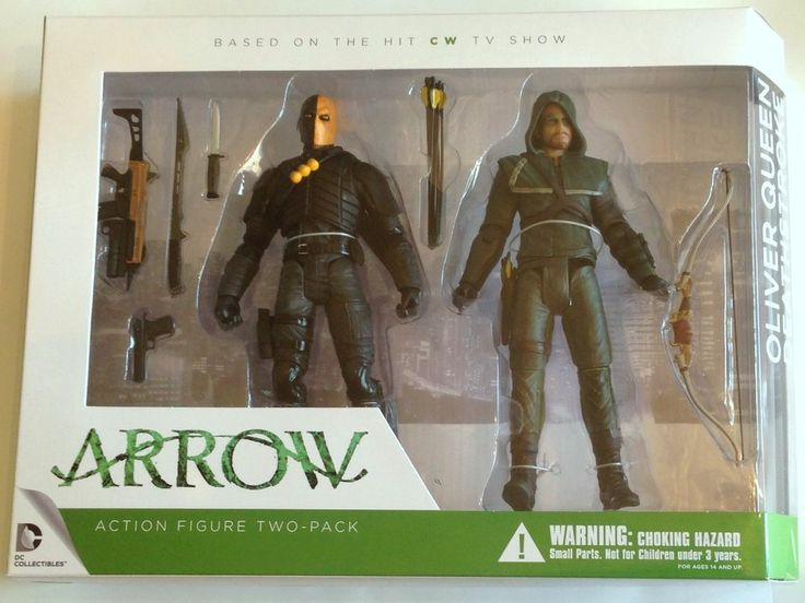 DC Collectibles Green Arrow Oliver Queen Deathstroke Slade Action Figure 2-Pack
