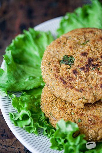 burger vegano legumi e quinoa