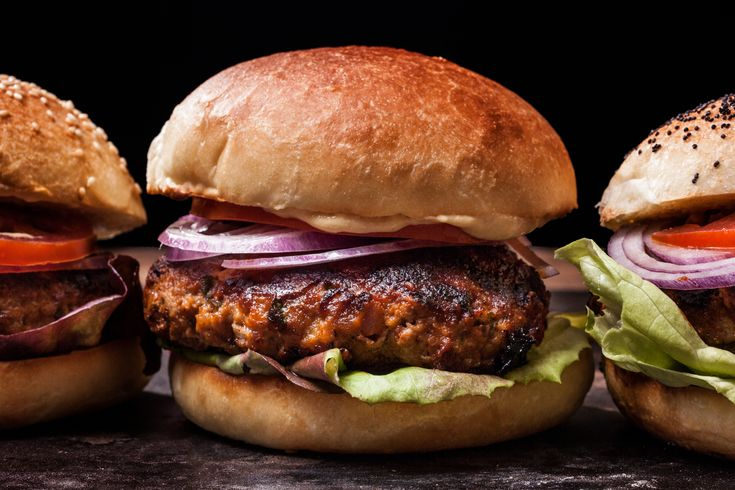 An easy meatloaf burger recipe. You will need ground chuck, pork, onion, parsley, egg, panko, ketchup, Sriracha, and hoisin sauce for this recipe.